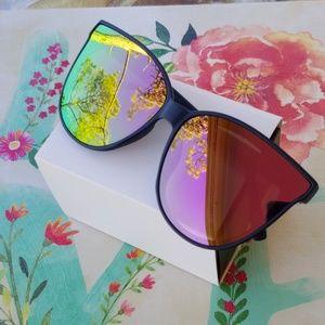 Accessories - 2019 Tulip Cat Eye Women Sunglasses  black pink